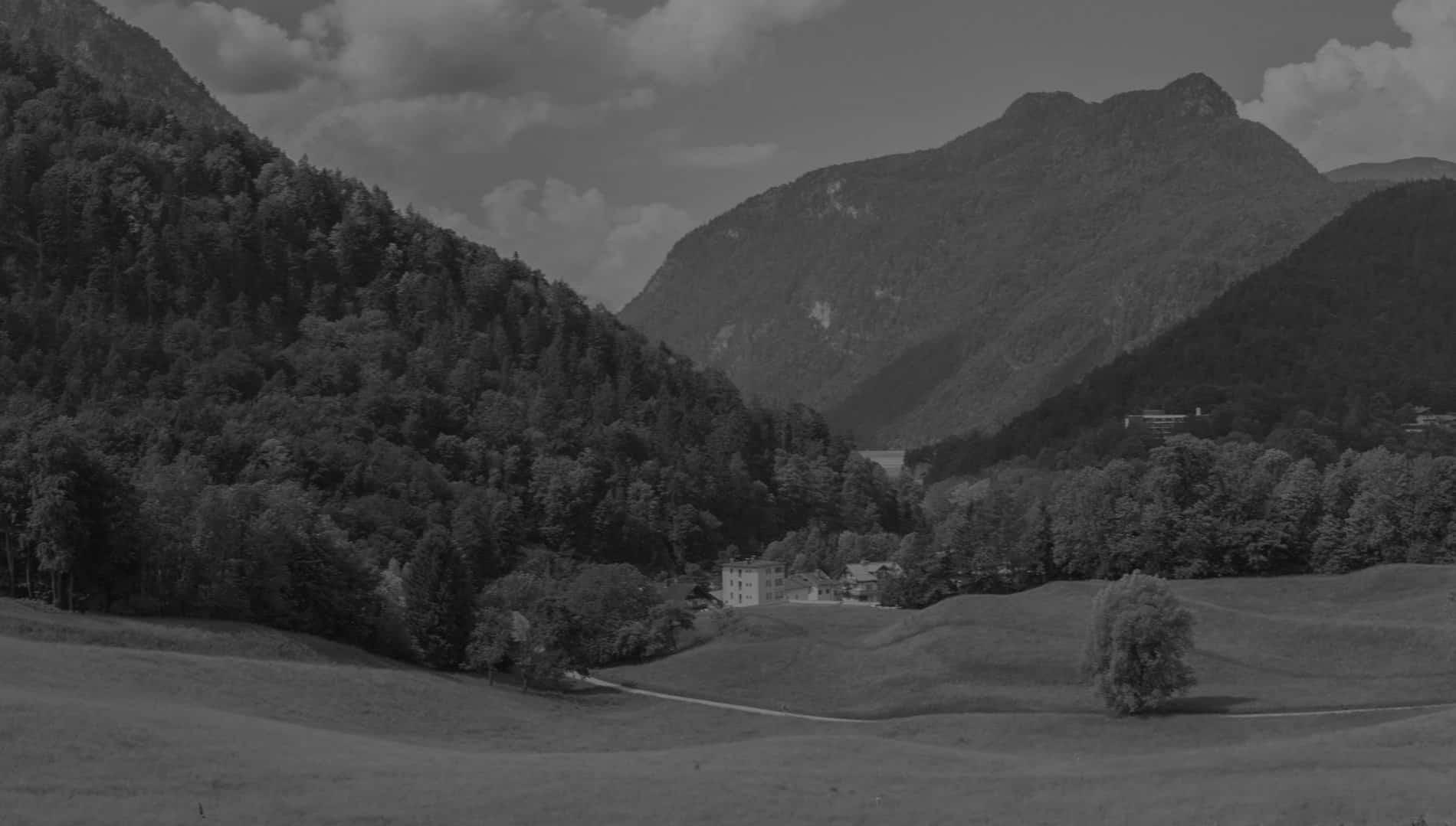 Grüne Landschaft, Hochplateau, nahe Bad Reichenhall, Panorama